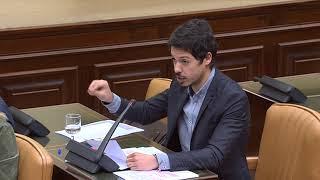 Segundo González en la Comisión de Presupuestos el 19 de abril