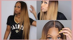 """6x6 Glueless Closure w/ NO BABY HAIRS! & Honey Blonde Color on 30"""" Wig!!!  