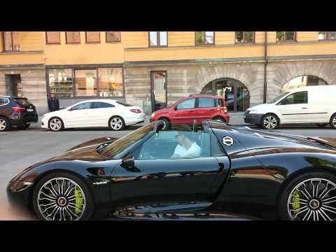 Zlatan Ibrahimovic Porsche 918 Spyder in Stockholm