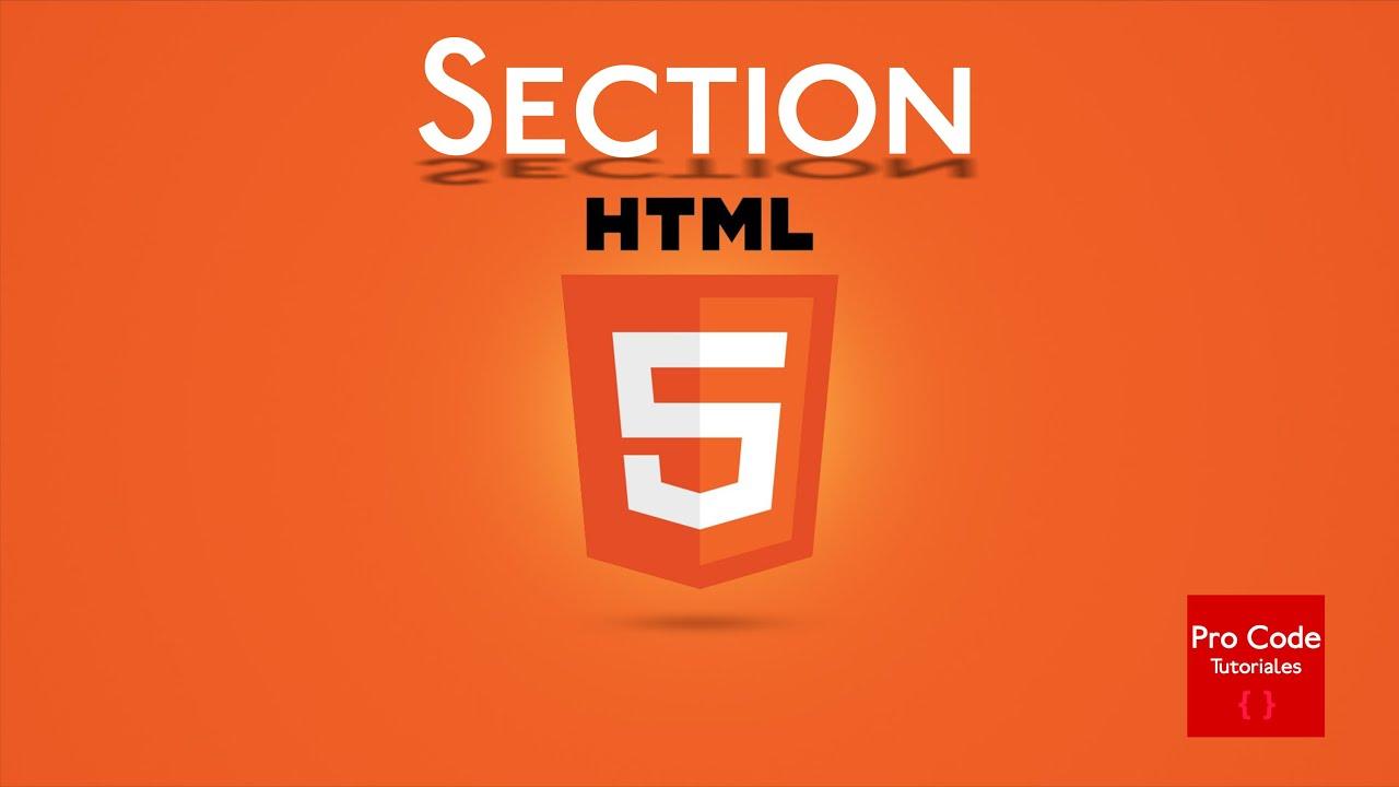 Curso básico de HTML5 | Etiqueta Section - YouTube