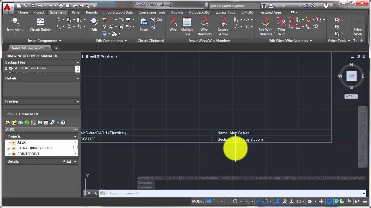 AutoCAD Electrical Edit Title Block YouTube