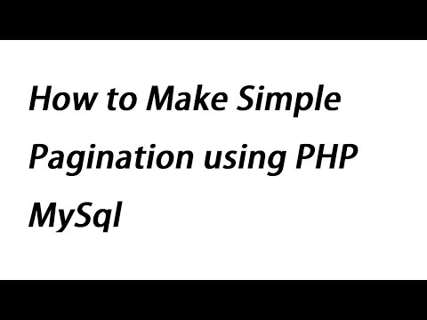 How To Make Simple Pagination Using PHP MySql
