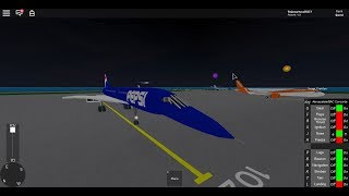 Roblox SFS landing the concorde (Pepsi Livery)
