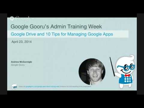 Admin Training Week - Google Drive and Managing Google Apps with FlashPanel