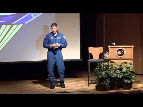 Astronaut Mike Hopkins Talks Living and Working in Space while visiting Goddard Space Flight Center