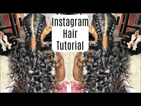 Instagram Inspired French Braids & Ponytail Curls Hairstyles Tutorial