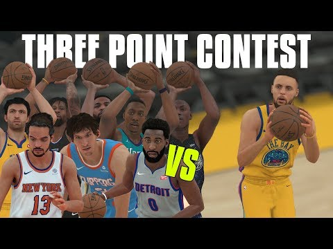 Can the 10 Worst Three Point Shooters Combined Beat Stephen Curry In A Three Point Contest? NBA 2K18