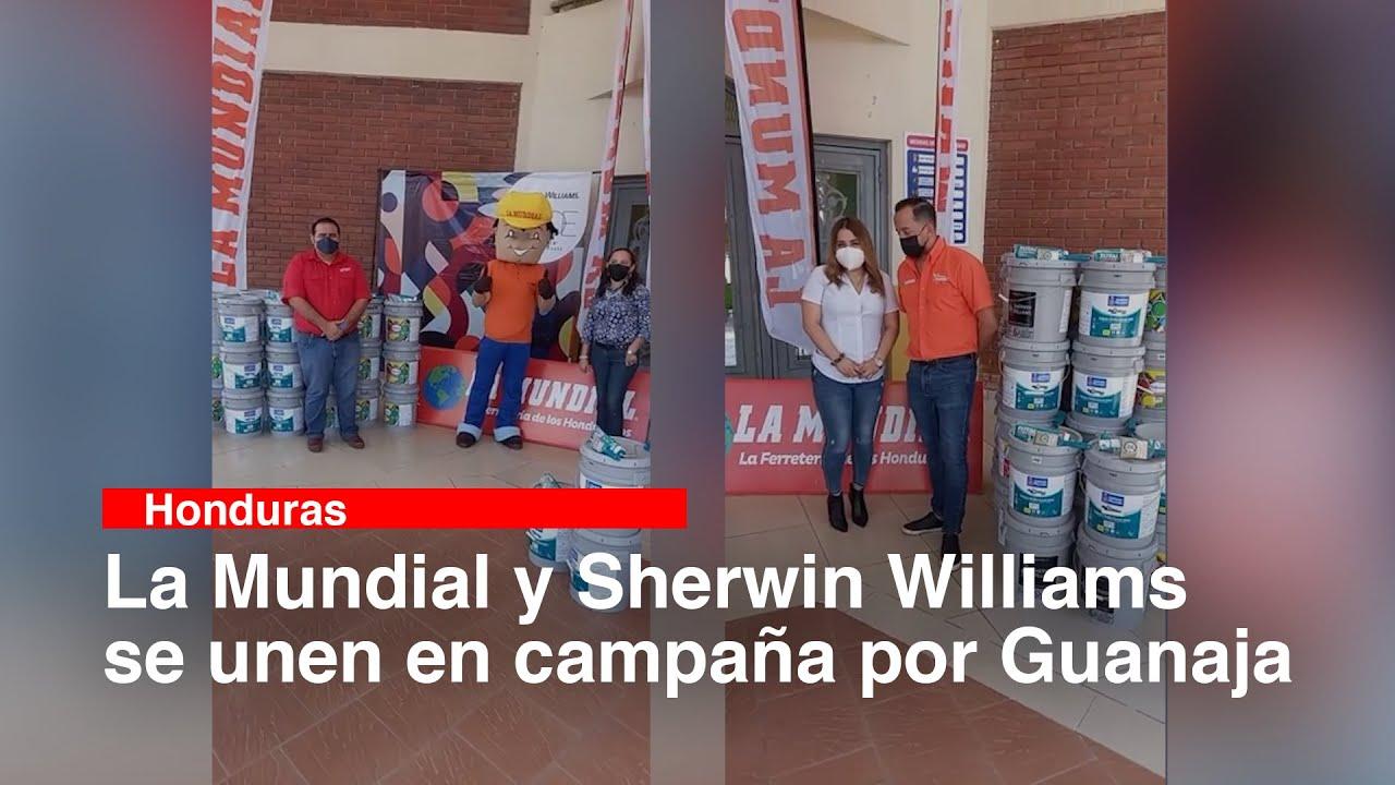 La Mundial y Sherwin Williams se unen en campaña por Guanaja