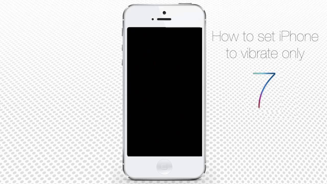 How To Set Iphone To Vibrate Only Youtube