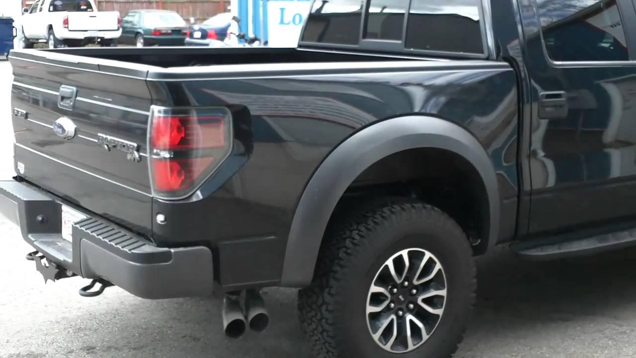 Lous Custom Exhaust >> 2012 Ford Raptor 6.2L Borla Muffler Install Dorchester ...