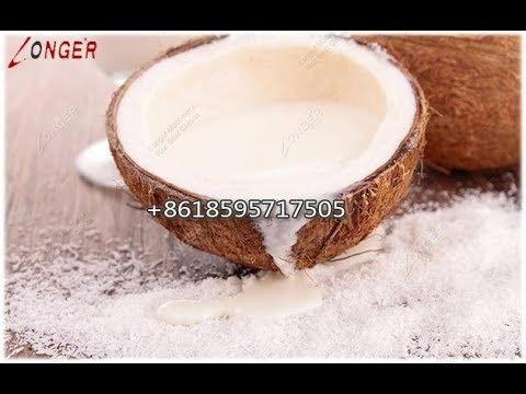 Industrial Coconut Milk Making Machine|Maker Machinery Youtube Working Video