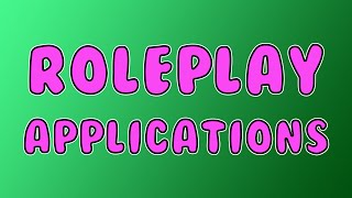 APPLY FOR MY ROLEPLAY TEAM