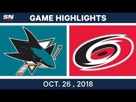 NHL Highlights | Sharks vs. Hurricanes - Oct. 26, 2018