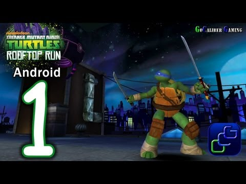 TMNT: ROOFTOP RUN Android Walkthrough - Gameplay Part 1 - LEO Stages: 1, 2 and 3