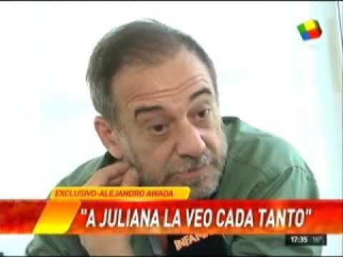 """Alejandro Awada: """"Tenemos diferencias importantes con Juliana, pero la quiero mucho"""""""