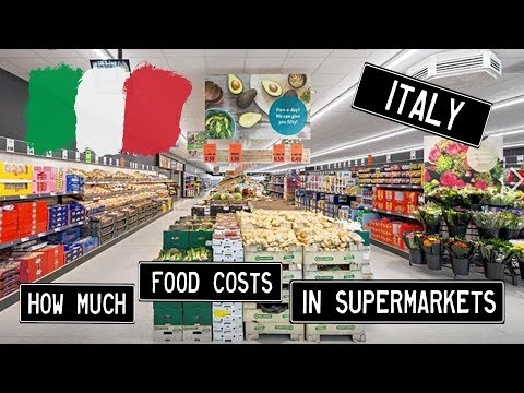 2018 Italy  - How Expensive Is Food In A Supermarket?