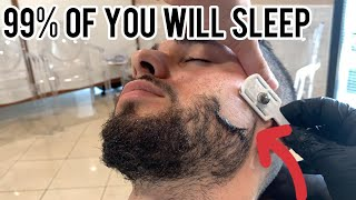 THE MOST SATISFYING FACE SHAVE! ASMR BEARD SHAVE - ASMR NO TALKING - ASMR BARBER