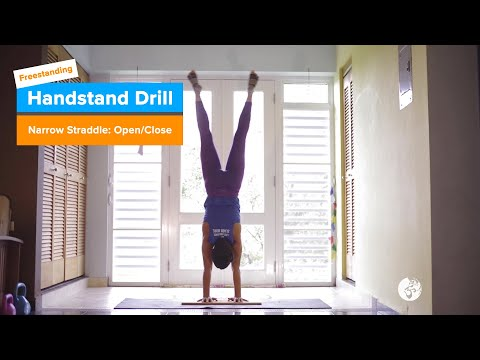 Straddle: Open/Close Drill | YogaSlackers 12 Days of Handstands