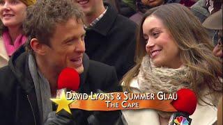 Summer Glau and David Lyons interview at Macy's Thanksgiving Parade