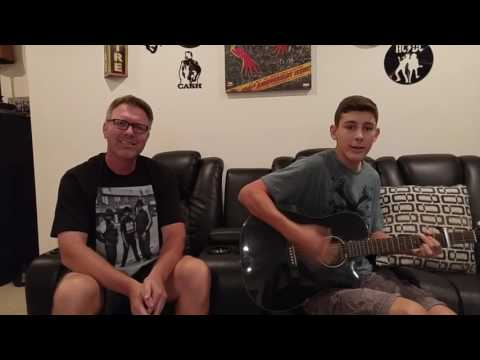 Dad and Son's Cool Song!  Rapping Dad