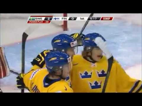 Victor Rask 3-0 vs Finland. World junior cup 2012-2013