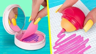 11 DIY Weird School Supplies You Need To Try / School Pranks And Life Hacks thumbnail