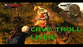 The Witcher 3: Wild Hunt Cave Troll Liver Farming!