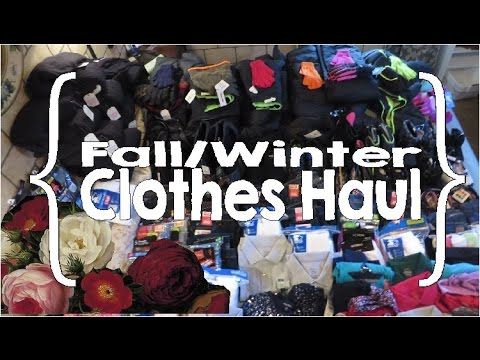 Fall/Winter Clothes Shopping, Haul & Organization (Large Family Organization)