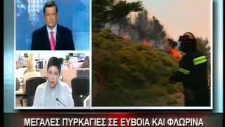 28.8.12-Μεγάλες πυρκαγιές σε Εύβοια & Φλώρινα