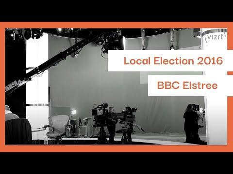 BBC Local Election2016/VizRt tracking system/Elstree Studio/London