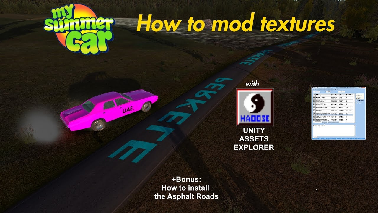 How To Mod Textures With Unity Assets Explorer My Summer Car