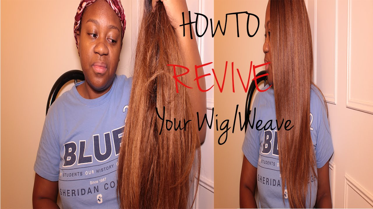 How To Revive Your Old Synthetic Weavewig Youtube