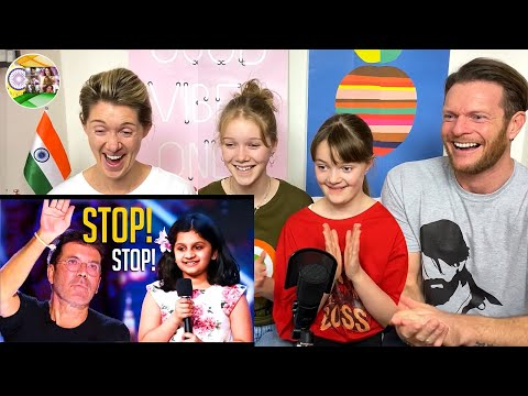 SIMON STOPS 10-Year Old Indian Girl On BGT REACTION | #BigAReact
