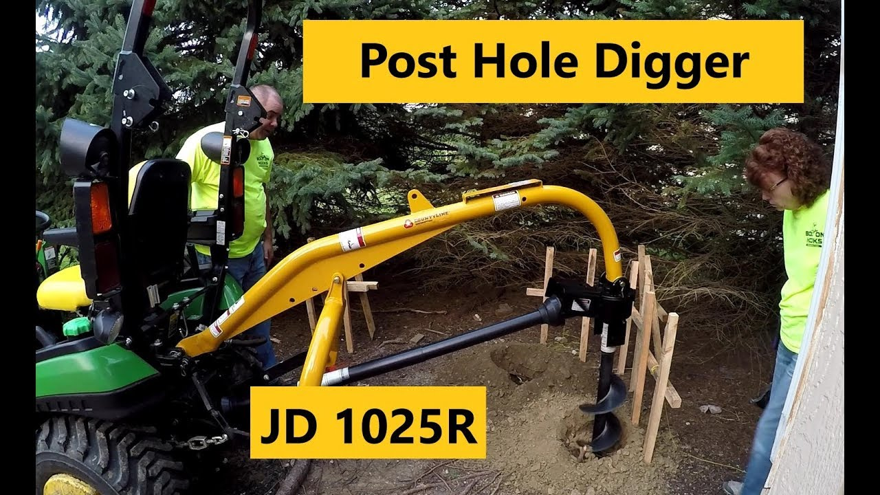 Good, Bad & Ugly: Compact Tractor Post Hole Digger Setup and First Use
