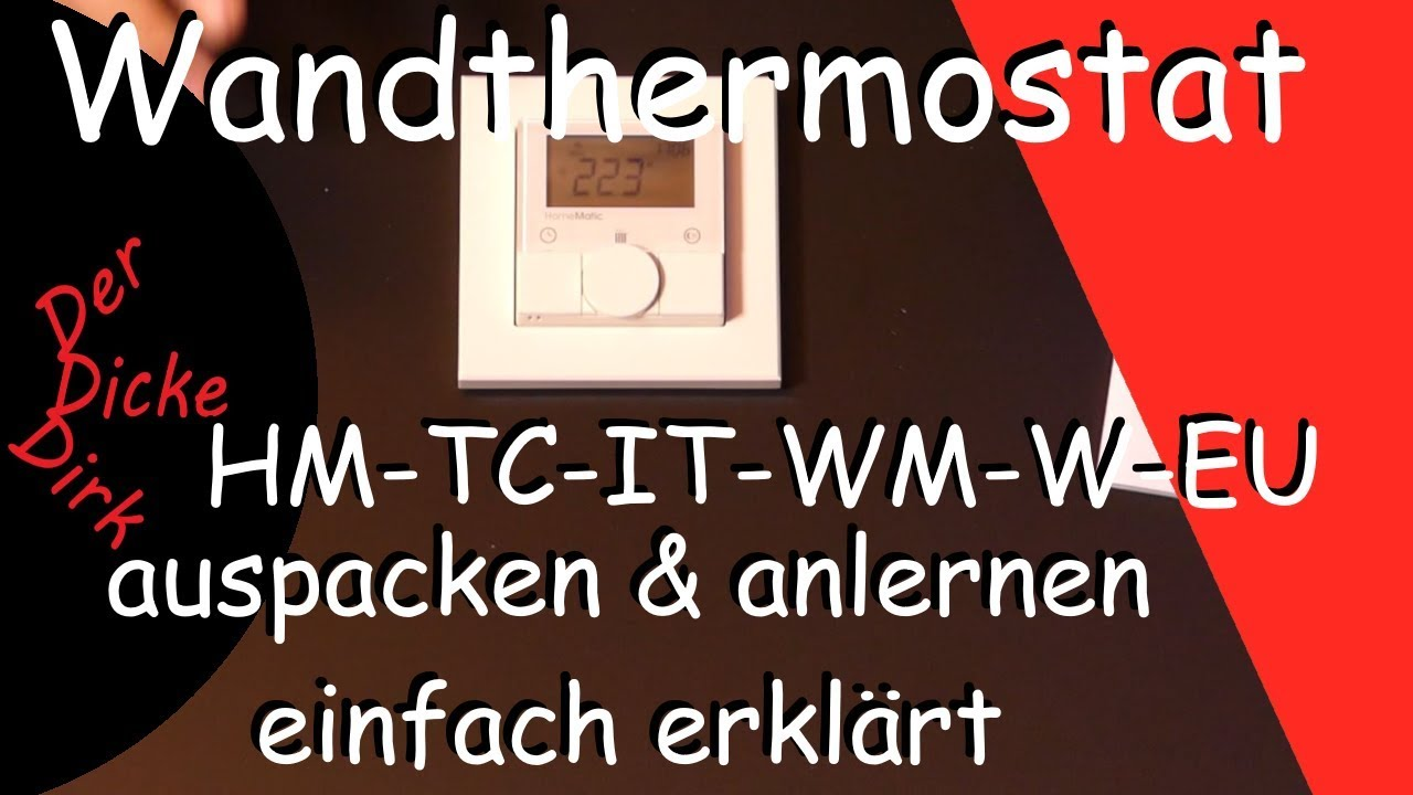 Smart Home Wandthermostat Wandthermostat Hm Tc It Wm W Eu Homematic Basics Smarthome Derdickedirk