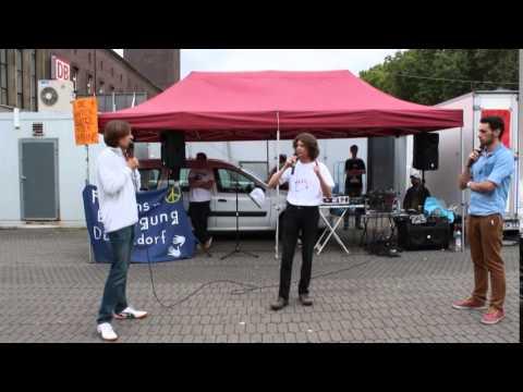 Demonstration Düsseldorf u.a. mit DIE BANDBREITE 11.08.2014