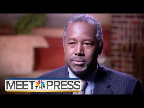 Ben Carson: Holocaust, Abortion, Roe v. Wade (Full Interview) | Meet The Press | NBC News