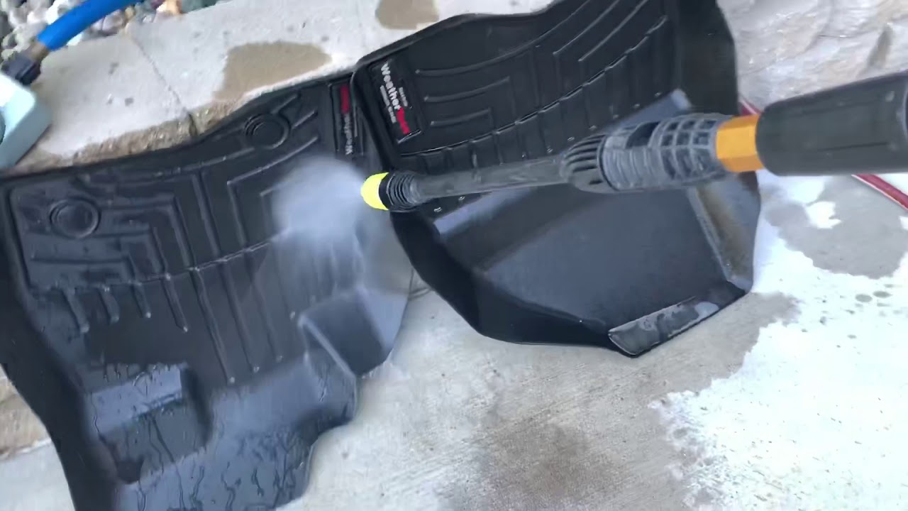 How To Clean Weathertech Mats Make Them Look New Again Youtube