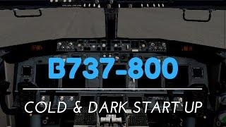 X- Plane 10 MOBILE [Boeing 737- 800 Cold & Dark Start Up tutorial]