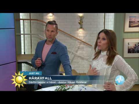 Därför tappar vi håret - doktor Mikael förklarar - Nyhetsmorgon (TV4)