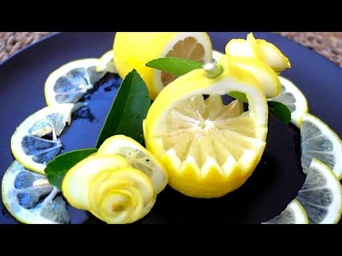 How to make Lemon Garnishes for Food Plating. Food Decoration. Plating Garnishes. Food Presentation