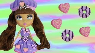 cookie chef doll cutie pops purple chocolate sugar cookies food review unboxing cookieswirlc