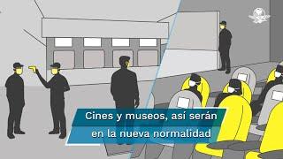 A partir del 11 y 12, los museos y salas de cine reabrirán en la Ciudad de México. Todos los establecimientos deberán operar a 30% de su capacidad y con medidas estrictas de seguridad sanitaria