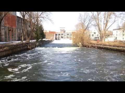 Весенний сброс воды о.Ломпадь г.Людиново ЛТЗ