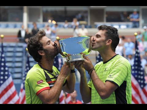 2017 US Open: Tecau & Rojer Winners Walk Presented By Emirates