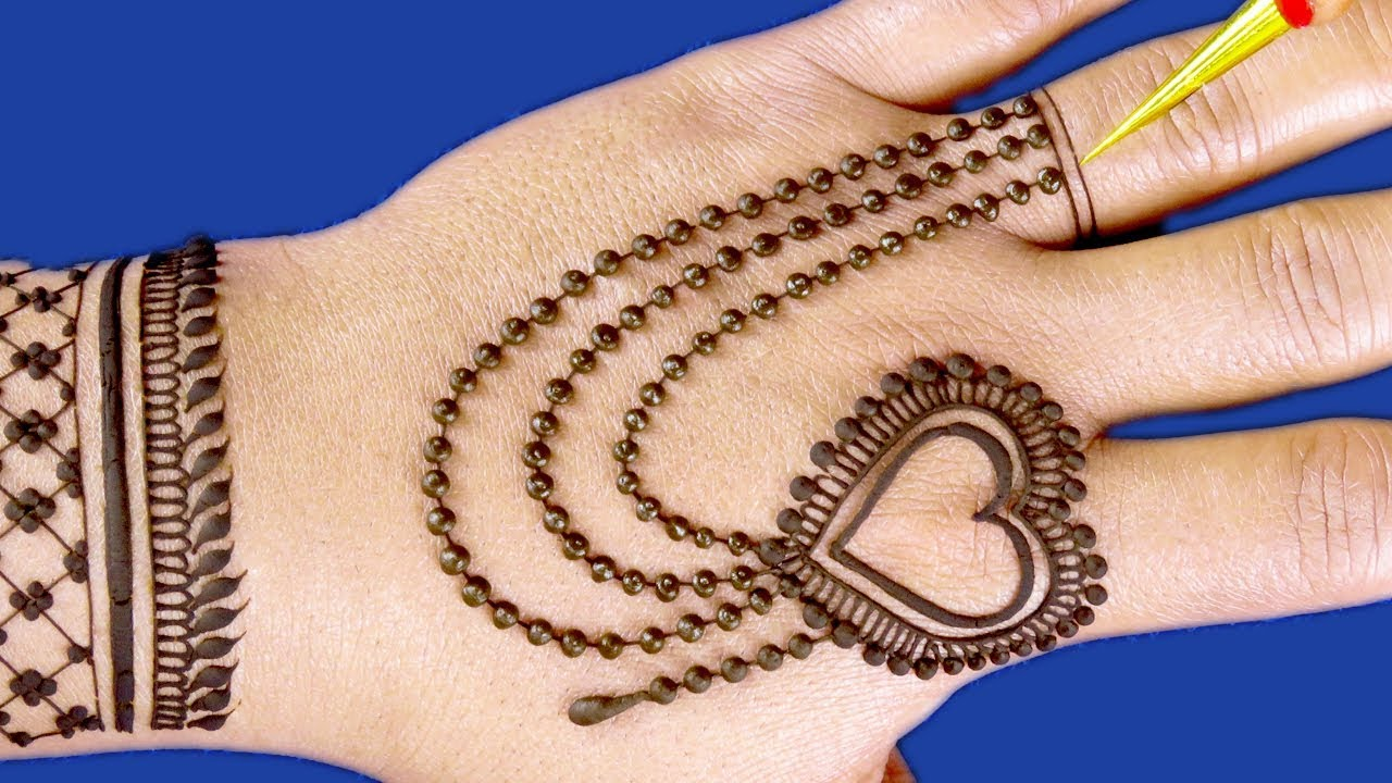 mehndi design of chain