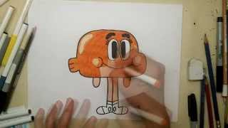 How to Draw Darwin from The Amazing World of Gumball - Drawing Cartoons