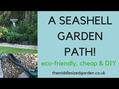 A seashell garden path -the best and most attractive option...