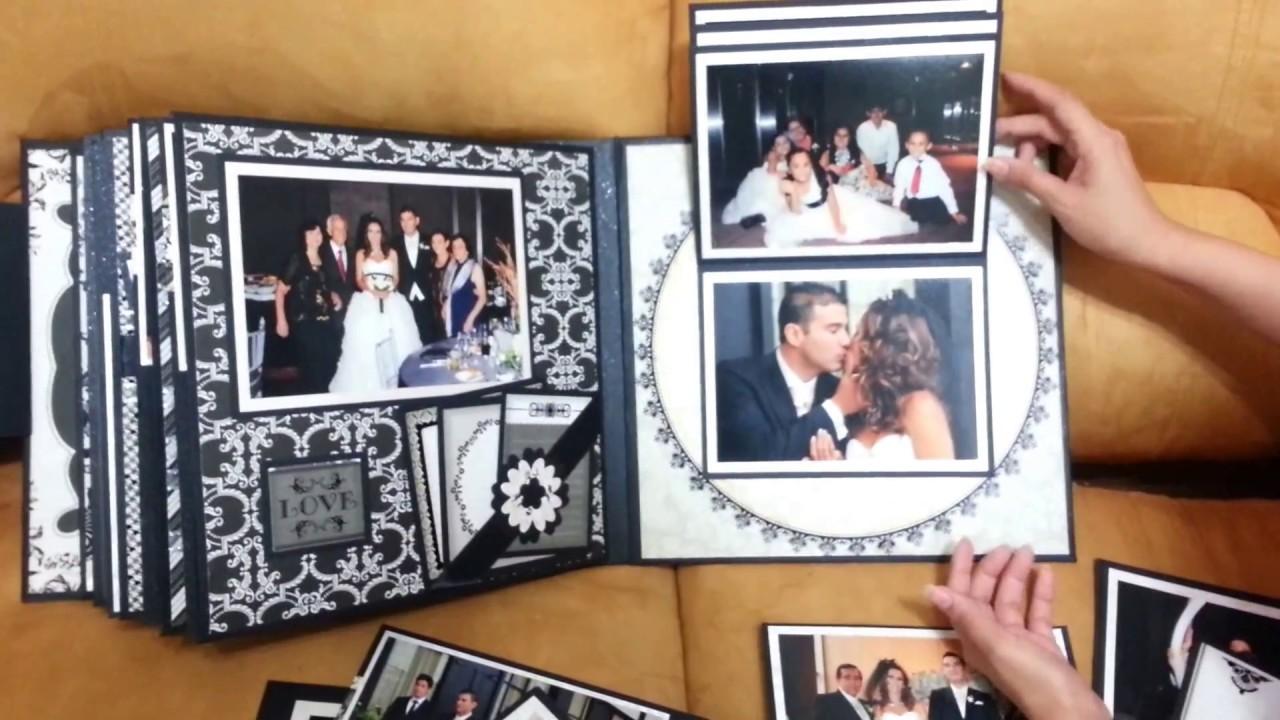 Album de boda tem tico black white youtube - Como hacer un album de fotos ...
