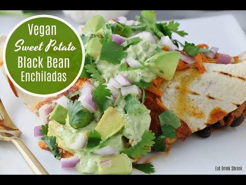 Yams Black Bean Enchiladas